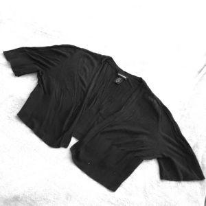 Black, light knit shrug